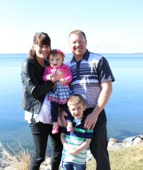 Evenson family at Lake Minnewaska